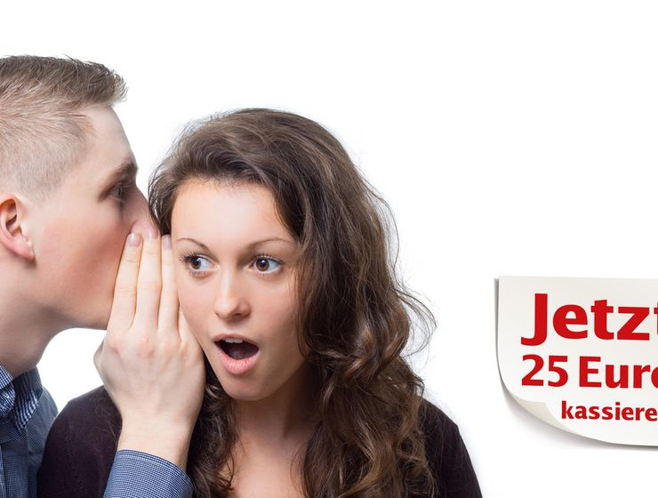 Mann flüstert einer Frau etwas ins Ohr mw_mwm_25euro.jpg