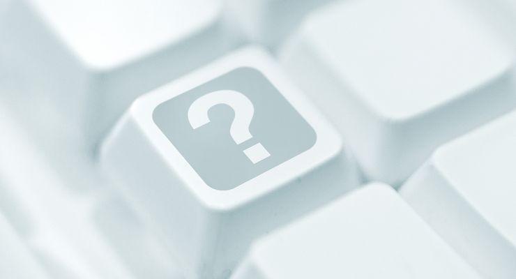 Fragezeichen auf der Taste einer Tastatur ms_infothek_faq.jpg